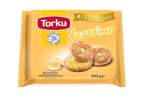 Torku Biscuits with Banana Cream 4X76G
