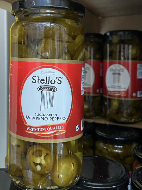 Stello's Green Jalapeno Peppers 490G