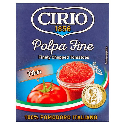 Cirio Polpa Finely Chopped Tomatoes 390G