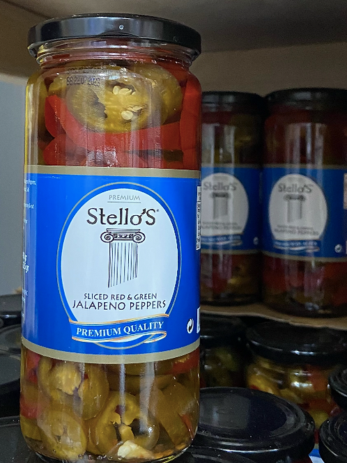 Stello's Mixed Jalapeno Peppers 490G