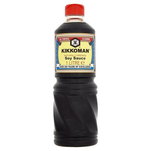 Kikkoman Naturally Brewed Soy Sauce 1LT