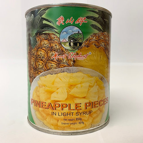 Mount Elephant Pineapple Pieces in Light Syrup 425G