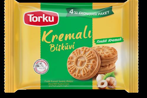 Torku Hazelnut Cream Biscuit 4X76G