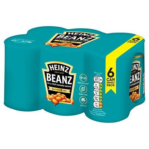 Heinz Beanz Baked Beans 6 Cans Multipack