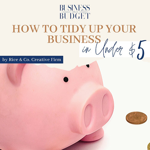 eBook: Tidy Up Your Business in Under $5