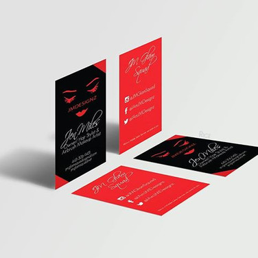 Vertical business cards are IN right now