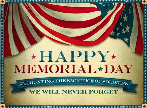 Memorial Day Sunday, May 31st