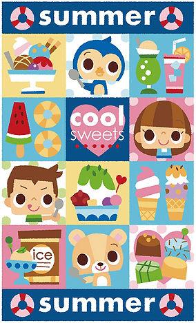 夏のお菓子イラスト