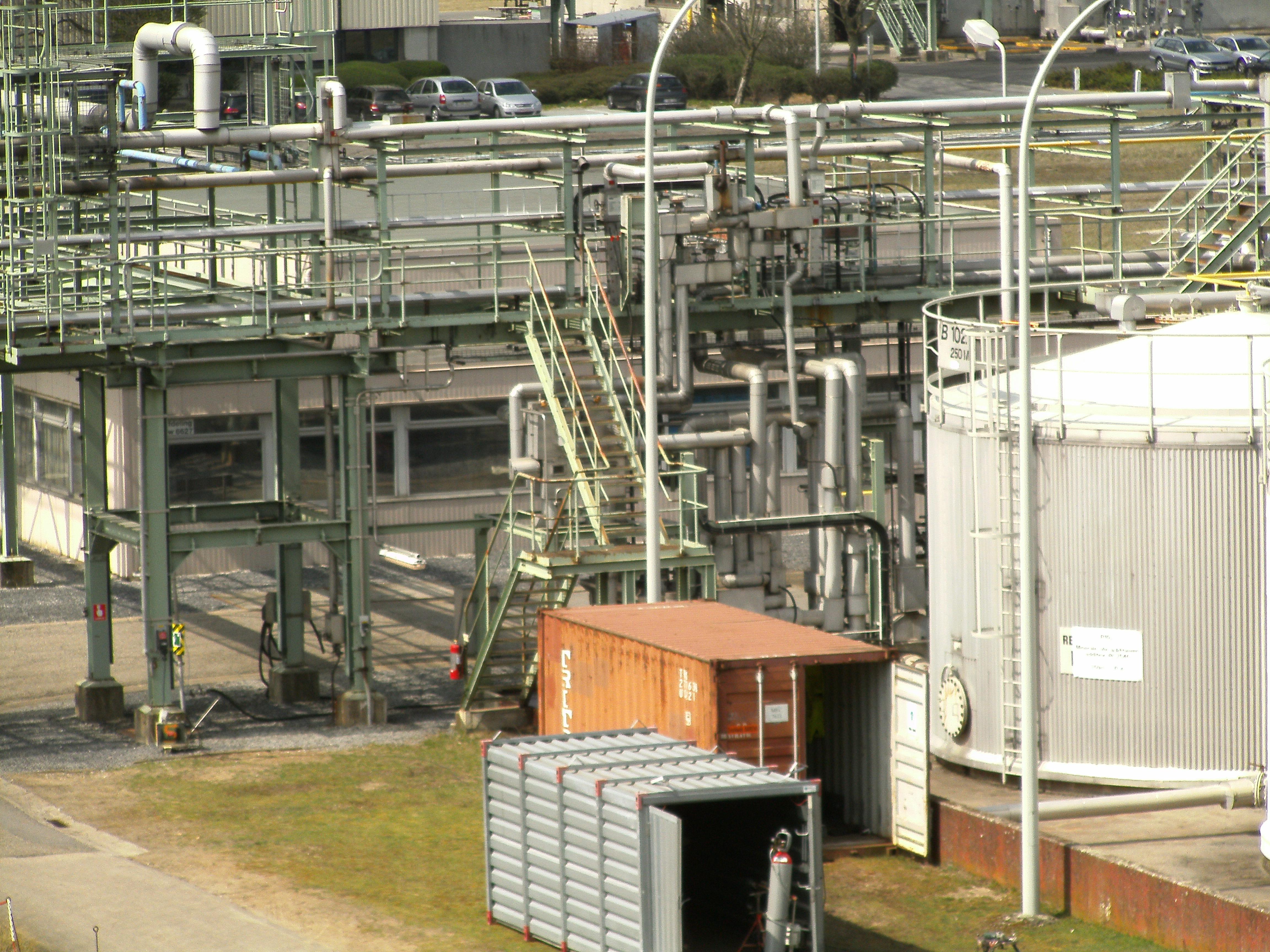 Pipefitting chemiebedrijf