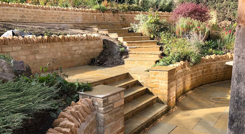Dry Stone Wall and steps