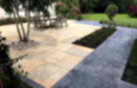 Patio and Block Paving b Cotswold Meadows and designed by Nick Williams-Ellis
