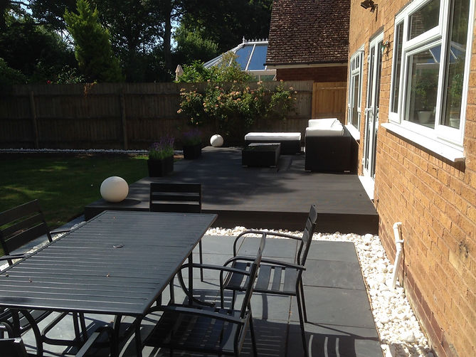 Decking and Paving example