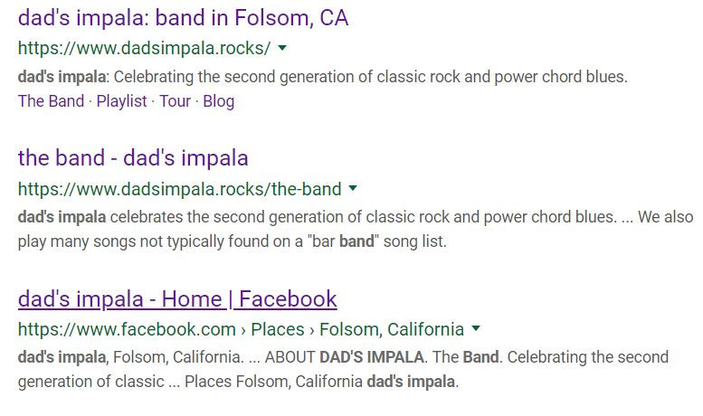 dad's impala search results