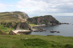 cliffs on the Oa