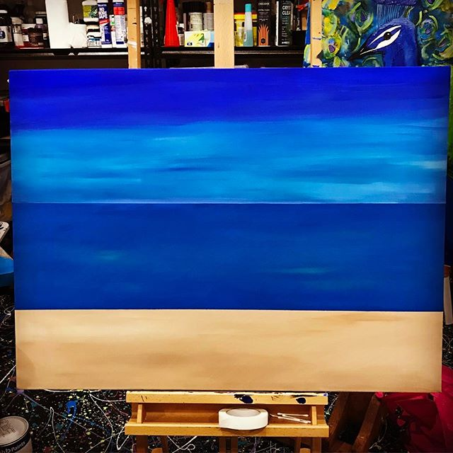 Large seascape painting