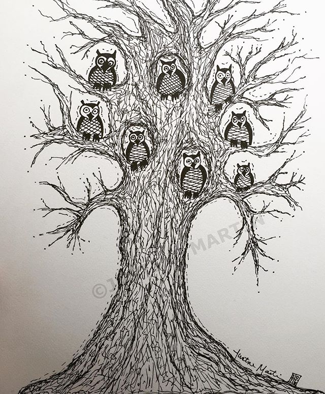 bunch of owls