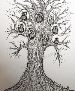 bunch of owls