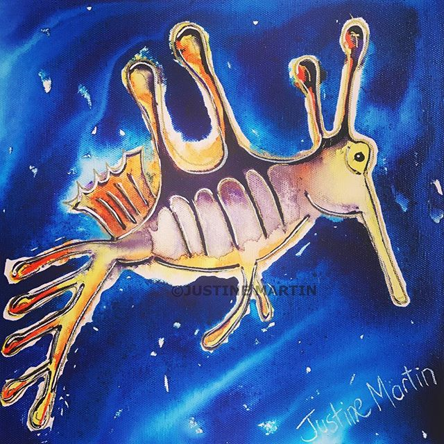 #weedyseadragon #bellarinepeninsula #bellarinebounty #geelong #geelongartist #disabledartist #juzt_a