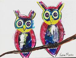 #art #artforsale #ink #inkpainting #juzt_art #painting #owl #geelongcreatives #geelongartist #geelon