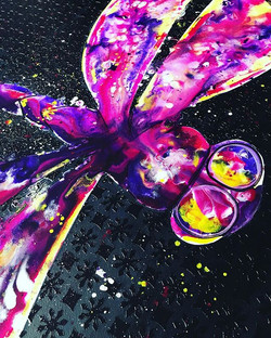 Work in progress Commission piece of a dragonfly on canvas with ink and acrylic paint.jpg