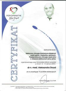 Periopraktyk dr Aleksandra Drozd 06.2014