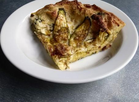 Lasagne con zucchine e pinoli alla menta e basilico