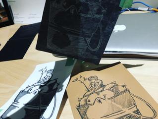 Lino Printmaking at Home