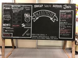 Swap, Share, Repair Chalkboard
