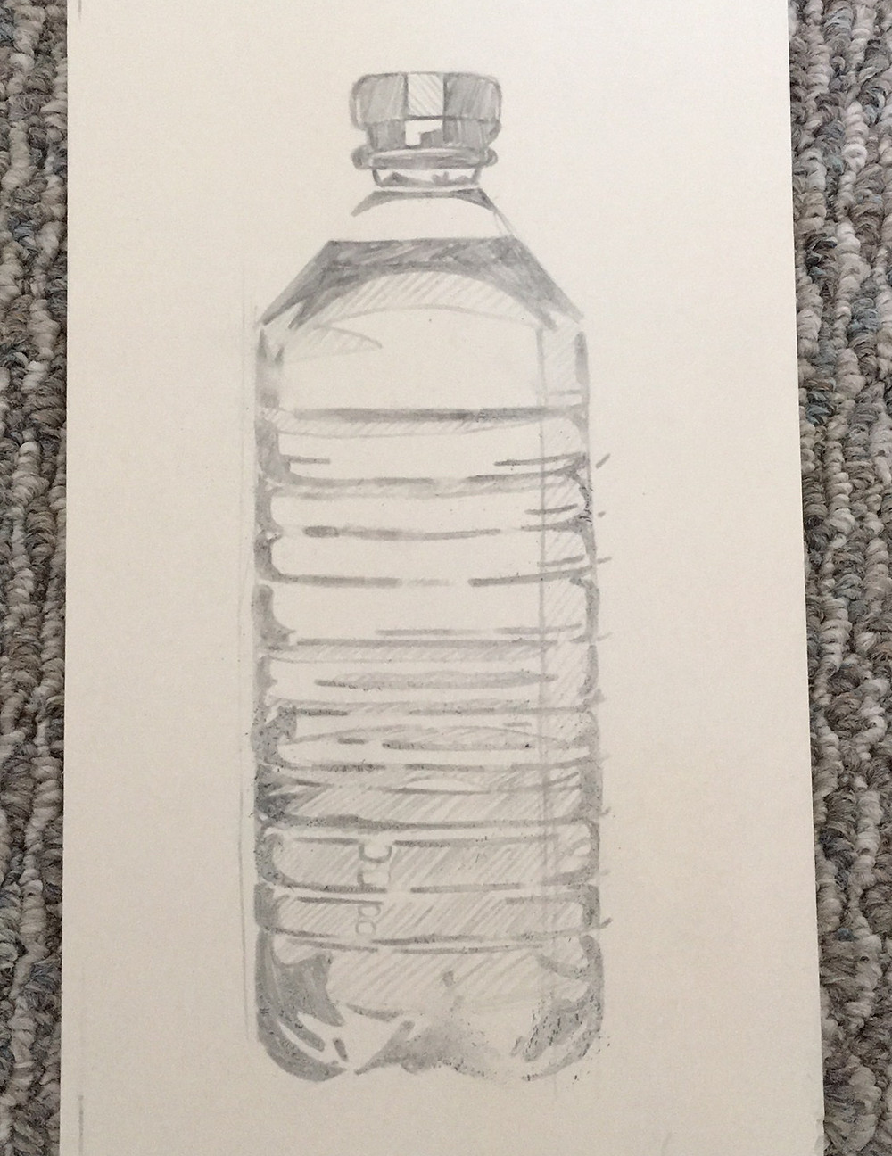 Lino water bottle sketch
