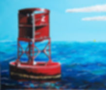 red bouy painting from the st. lawrence river