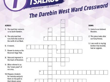 The Darebin West Ward Crossword | Answers