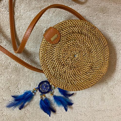 Rattan Straw Shoulder Bags for Women - Handmade Bali