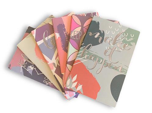 6 Pack Mini Inspirational Journals