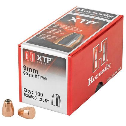 Hornady XTP 9MM 100 Count 90 Grain Diameter .355