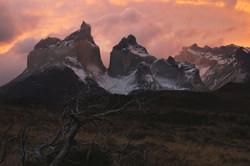 Vista a Los Cuernos del Paine