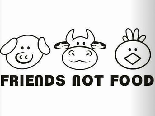Friends Not Food Black TShirt