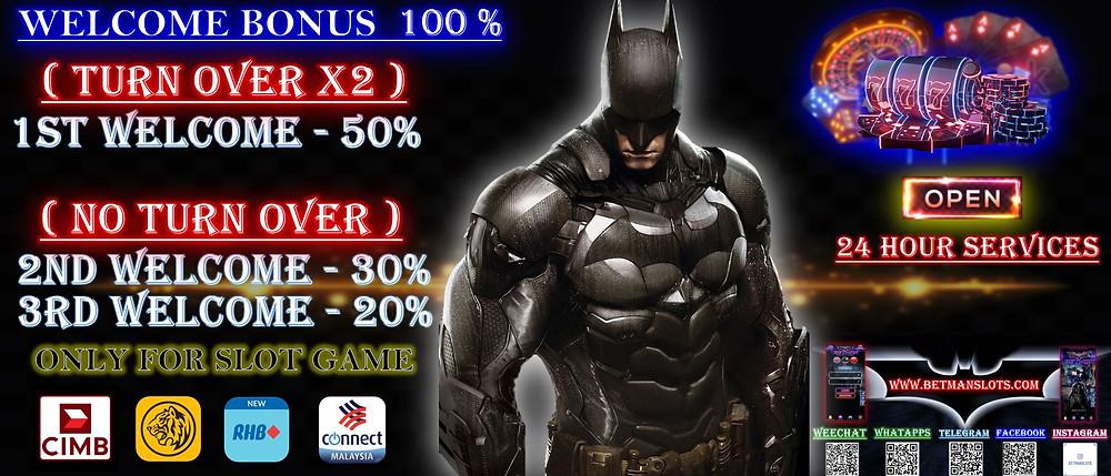 100% Welcome Bonus Betmanslot