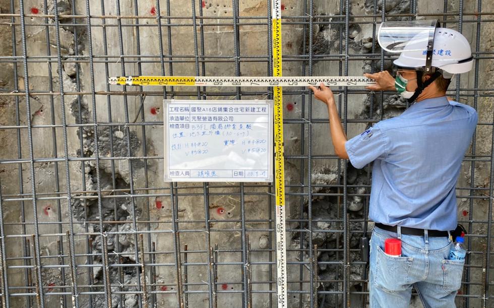 B3F牆鋼筋綁紮自主檢查