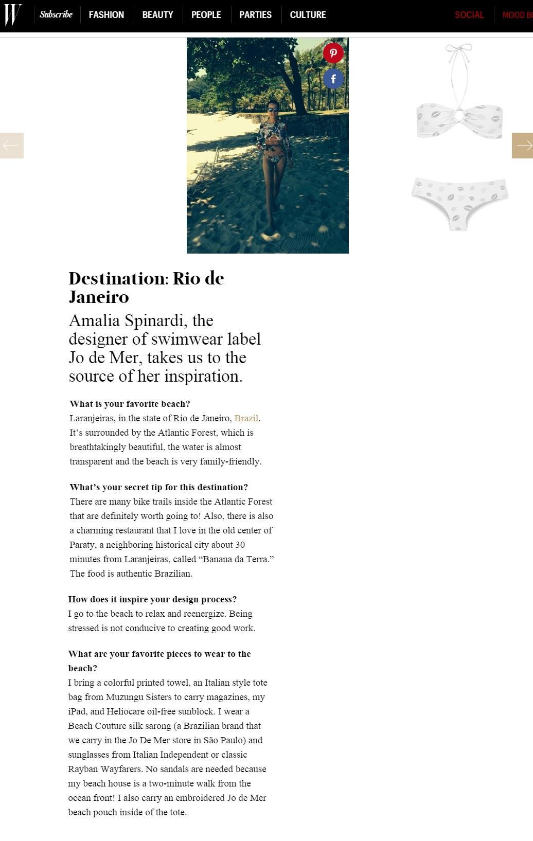 Site WMagazine USA