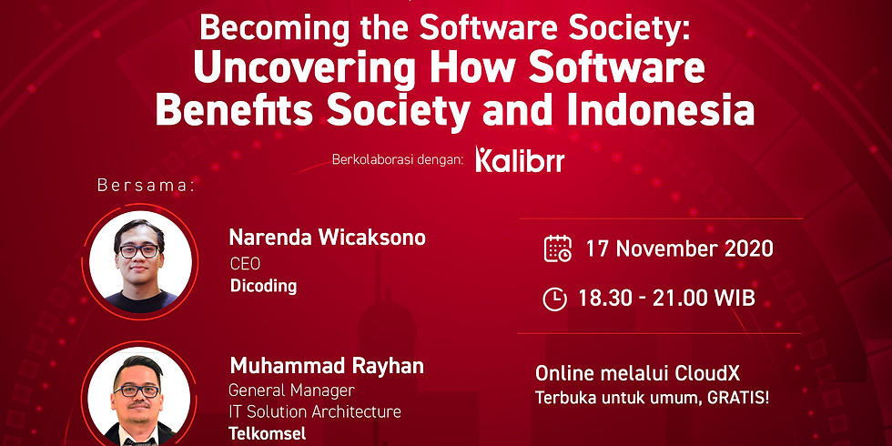 Becoming the Software Society: Uncovering How Software Benefits Society and Indonesia