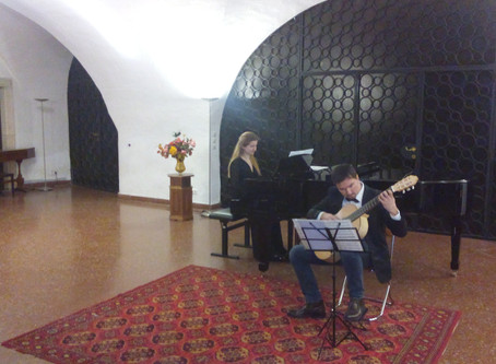 Adnan Ahmedic Lizaveta Bormotova Guitar Piano Concert in Peters Kirche Wien  Austria