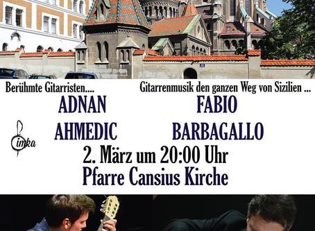 Adnan Ahmedic Fabio Barbagallo Pfarre Canisius Concert Wien Austria