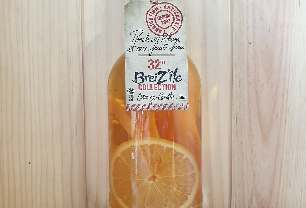 RHUM ARRANGÉ BREIZ'ÎLE ORANGE CAROTTE 32°