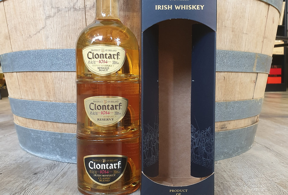 CLONTARF WHISKY 3 ÉTAGES : SINGLE, RESERVE, BLENDED