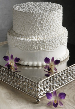 Crystal Square Wedding Cake Stand