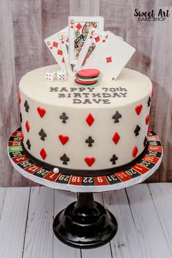 Dave's 70th Casino Birthday Cake
