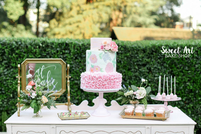 Southern Charm Painted Flower Cake