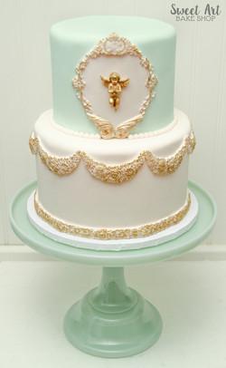 Cherub Baby Shower Cake