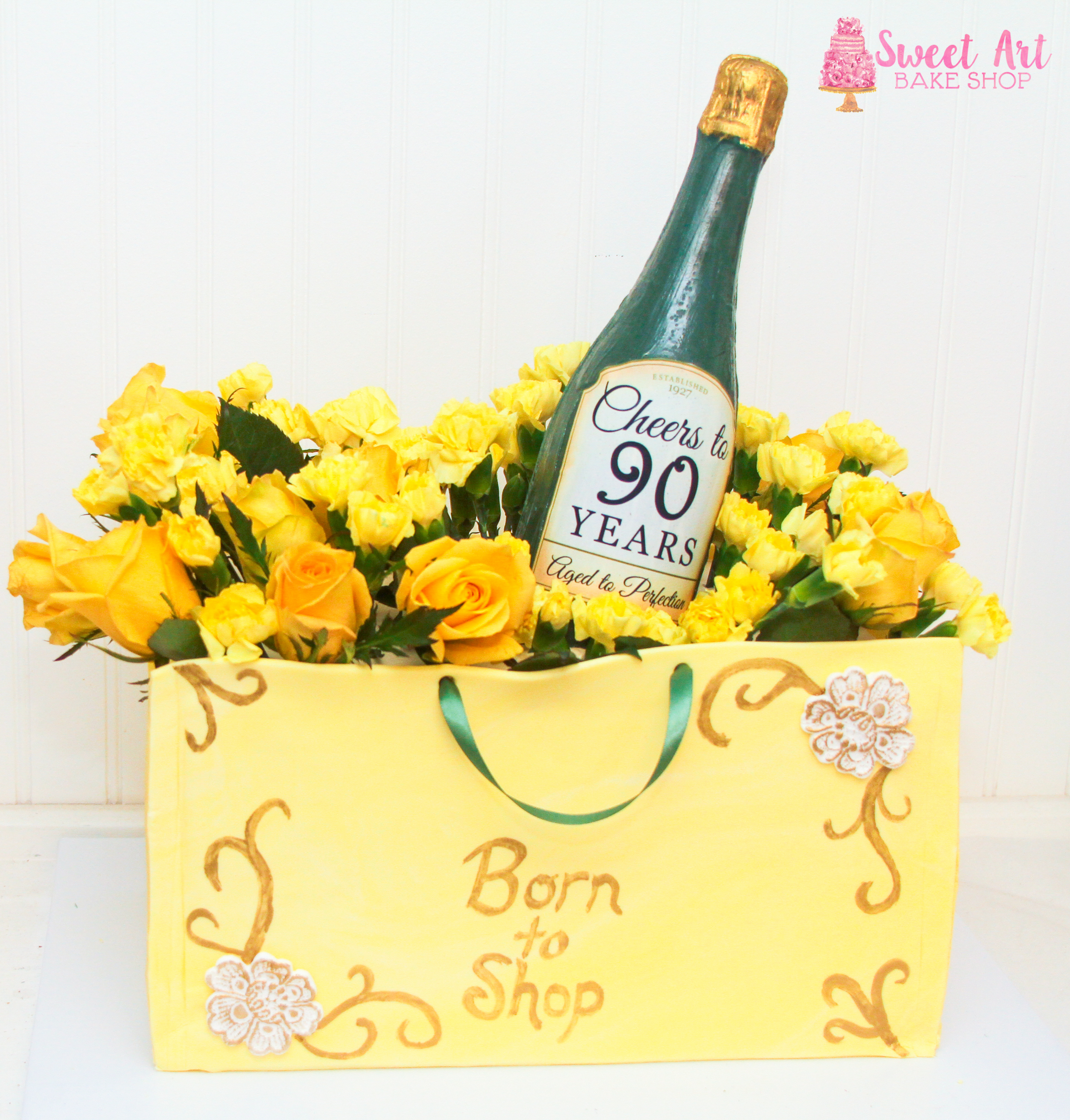 Champagne & Shopping Cake