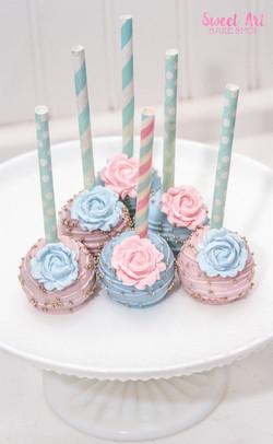 Pink & Blue Baby Shower Cake Pops
